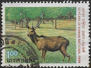 India 1983 Anniversary of Kanha National Park SG 1086 Fine Used