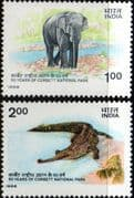 India 1986 Corbett National Park Set Fine Mint