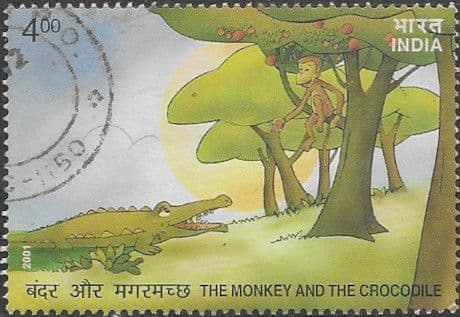 India 2001 Monkey In Tree SG 2028 Fine Used