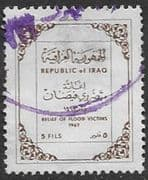 Iraq 1968 Flood Relief  SG 763 Fine Used