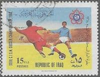 Iraq 1968 International Military Sports Council Football Championship SG 806 Fine Used