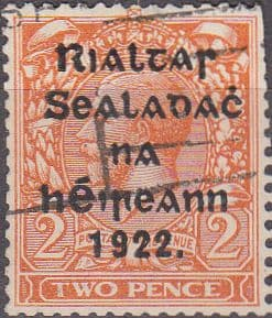 Ireland 1922 Eire Issue SG 29a George V Overprint Used