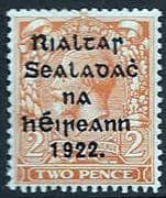 Ireland 1922 Eire Issue SG 33 George V Overprint Fine Mint