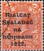 Ireland 1922 Eire Issue SG 33 George V Overprint Fine Used