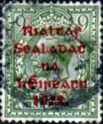 Ireland 1922 Eire Issue SG 41 George V Red Overprint Fine Used