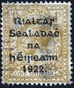 Ireland 1922 Eire Issue SG 43 George V Overprint Fine Used