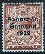 Ireland 1922 Eire Issue SG 54George V Overprint Fine Mint