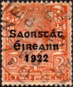 Ireland 1922 Eire Issue SG 55 George V Overprint Fine Used