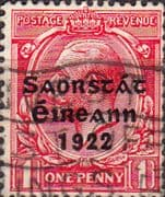 Ireland 1922 Eire Issue SG 69 George V Overprint Used