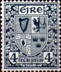 Ireland 1922 Eire Issue SG 77 Coat of Arms Fine Mint