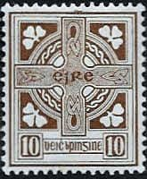 Ireland 1922 Eire Issue SG 81 Celtic Cross Fine Mint