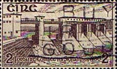 Postage Stamps of Eire Ireland 1930 Shannon Hydro-Electric Scheme SG 92 Fine Used Scott 83