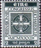 Postage Stamps of Eire Ireland 1932 Eucharistic Congress SG 94 Fine Used Scott 85