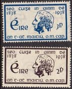 Ireland 1938 Temperance Crusade Set Fine Mint