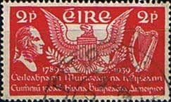Postage Stamps of Eire Ireland 1939 Installation of First U.S. President SG 109 Fine Used Scott 103