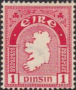 Ireland 1940 Eire Issue SG 112c Map Fine Mint
