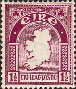 Postage Stamps of Eire Ireland 1940 SG 113 Map Fine Used Scott 108
