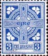 Ireland 1940 Eire Issue SG 116 Celtic Cross Fine Mint