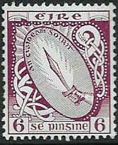 Postage Stamps of Eire Ireland 1940 SG 119 Sword of Light Fine Used Scott 114