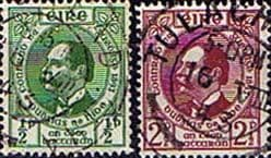 Postage Stamps of Eire Ireland 1943 Founding of Gaelic League Set Fine Used