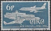 Ireland 1961 Silver Jubilee of Aer Lingus Airlines SG 184 Fine Used
