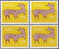 Ireland 1968 SG 254 Stag Fine Mint Block of 4
