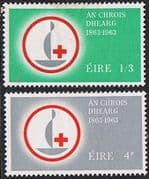 Ireland Eire 1963 Red Cross Centenary Set Fine Mint