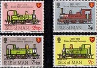 Isle of Man 1973 Steam Railway Centenary Set Fine Mint