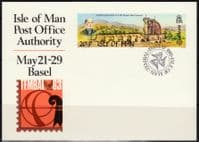 Isle of Man 1983 Basel Europa PO Authority Pre-stamped Postcard Fine Used
