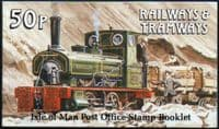 Isle of Man 1988 Railways and Tramways Booklet SB 18 Fine Mint