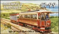 Isle of Man 1988 Railways and Tramways Booklet SB 19 Fine Mint