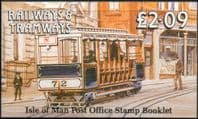 Isle of Man 1988 Railways and Tramways Booklet SB 22 Fine Mint