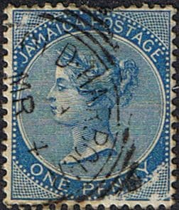 Jamaica 1883 Queen Victoria Head SG 17 Fine Used