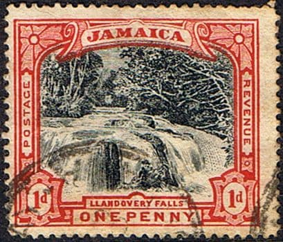 Stamps Jamaica 1900 Llandovery Watterfalls SG 32 Fine Used