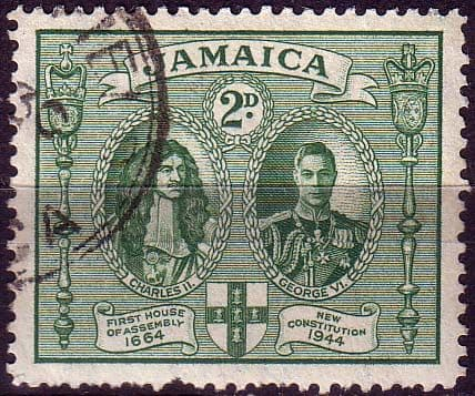 Stamps Jamaica 1945 New Constitution SG 135a Fine Used Scott 130a