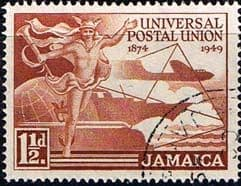 Stamps of Jamaica 1949 Stamps Universal Postal Union S145 Fine Used Scott 142