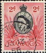 Jamaica 1956 SG 161 Queen Elizabeth and Pineapples Fine Used