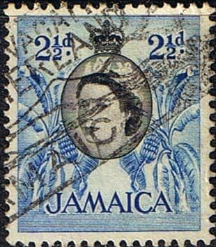 Jamaica 1956 SG 162 Queen Elizabeth and Bananas Fine Used