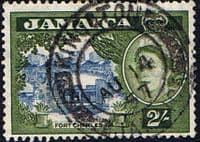 Jamaica 1956 SG 170 Queen Elizabeth and Fort Charles Fine Used