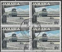 Jamaica 1964 SG 227 Palisadose Airport Fine Used Block of 4