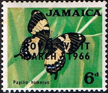 Jamaica 1966 SG 249 Royal Visit Butterfly Fine Mint