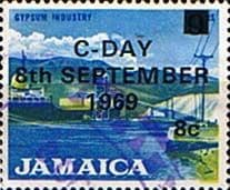 Jamaica 1969 Decimal Currency Overprints SG 285 Fine Used