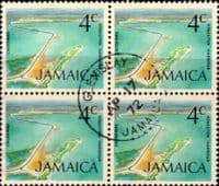 Jamaica 1972 SG 347 Kingston Harbour Fine Used Block of 4
