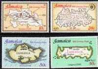 Jamaica 1976 16th Century Maps Set Fine Mint