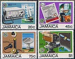 Postage Stamp Stamps Jamaica 1983 World Communication Year Fine Mint