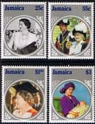 Jamaica 1985 Queen Mother Life and Times Set Fine Mint