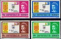 Jersey 1969 Inauguration of Post Office Set Fine Mint