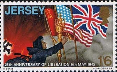 Jersey 1970 25th Anniversary of Liberation SG 36 Fine Mint