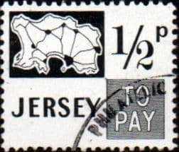Jersey 1971 Post Due SG D7 Fine Used