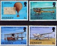 Jersey 1973 Jersey Aviation History Set Fine Mint